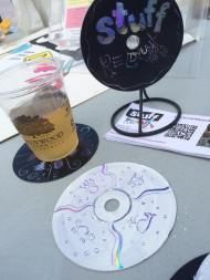 cd scratch art coasters